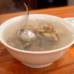 生姜入アサリのスープ