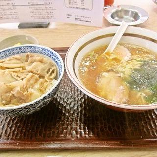 カルビ丼ラーメンセット(岩間らーめん )