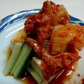 豆腐キムチ(川崎飯店)