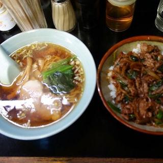 焼肉丼とラーメンのセット(市場三幸 )