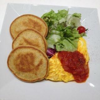 パンケーキ&たなかオムレツ(幸せのパンケーキ 表参道店 (マジアディファリーナ))