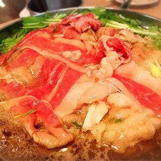 すき焼き(特選牛すき鍋・塩すき鍋)(広尾 七代目松五郎 )