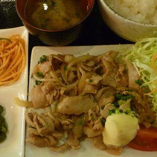 生姜焼き定食(恵比寿和顔 )