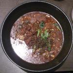 黒ゴマ汁有り担担麺 正式杏仁豆腐セット