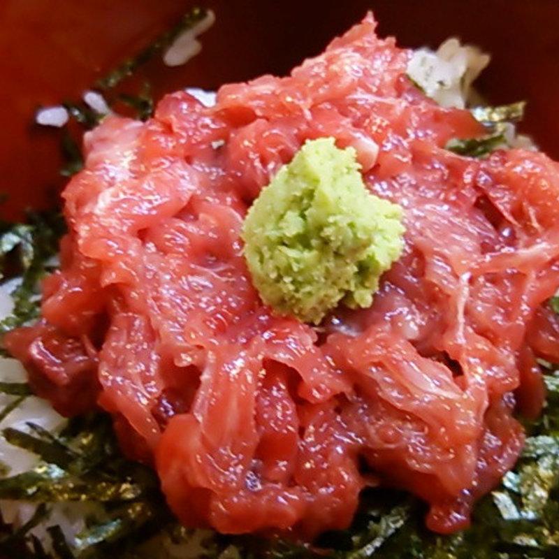 本マグロのすき身丼(愛情たっぷり手料理 やきとり・しゃぶしゃぶ 来幸 )