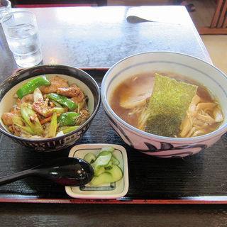 ラーメンと焼肉丼のセット(手作りの味 らーめん きぬや)