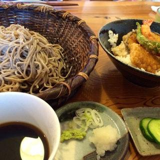 ミニ天丼セット(手打ち蕎麦 いしはら )