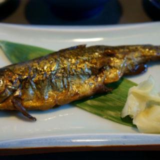 朝食  岩魚の甘露煮(手白澤温泉 )
