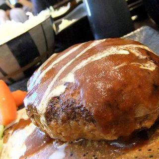 デミグラスハンバーグ定食(海鮮丼 日の出)