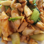 ランチ(鶏肉のXO醤炒め定食)(日光翠園)