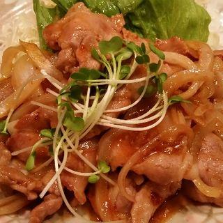 今日のランチ(豚肉と玉葱のBBQソース炒め)(普通の食堂いわま )