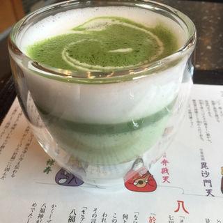 抹茶ラテ(普門庵 二の茶寮 )
