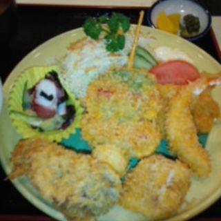 ミックスフライ定食(晴快荘 )