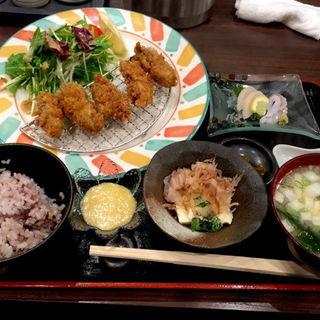 カキフライ定食(本格炉端焼き人夢叶思ひとむかし )