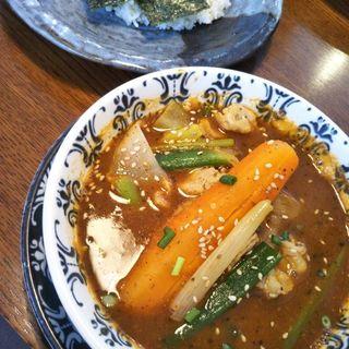 にんにく豚ねぎスープカレー(札幌らっきょ)