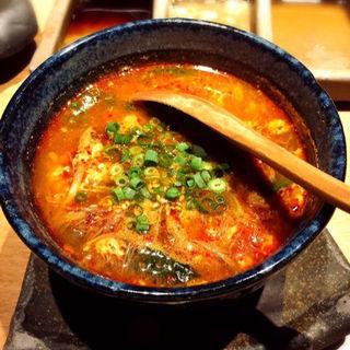 チーズキムチ&ユッケジャンスープ(東京苑 )