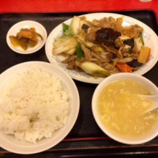 モツ味噌炒めセット(東方紅飯店)