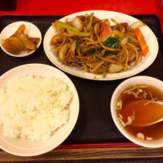 牡蠣油炒牛肉定食(東方紅飯店)