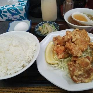鶏唐揚げ定食(松ちゃんラーメン)
