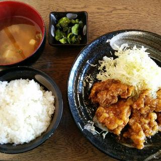 鶏の天ぷらあんかけ定食(林屋本店 )