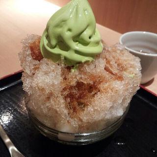 かき氷(黒蜜きなこ)(林屋茶園 京・スイーツ ルミネ新宿店 )