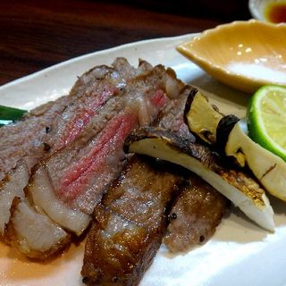 和牛と松茸の炙り焼き(根ぎし )