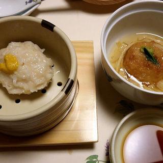 豆腐しゅうまいと蓮根まんじゅう(梅の花 京都伏見店 (ウメノハナ))