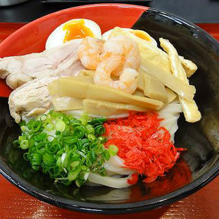 冷やし海老まぜ麺(極楽うどん TKU (ティーケーユー))