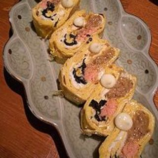 明太とそぼろの2色玉子焼(楽)