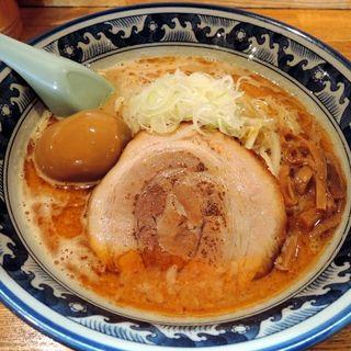 味噌ラーメン(海老風味)+トロ~リ半熟味付玉子(樽座 小宮店 (めんや たるざ))