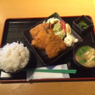 アジフライ定食(水喜 幸いちば店)