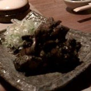 地鶏モモ炭火焼き(池田商店)