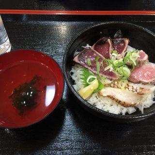 鰹・鰤・鯛わら焼きたたき三色丼