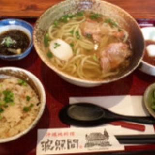軟骨ソーキそば定食(沖縄地料理 波照間 ラゾーナ川崎店)