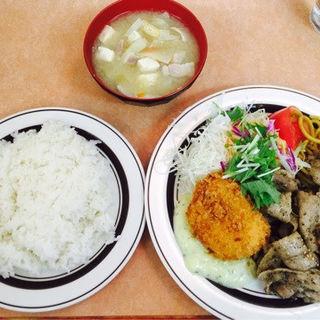 からし焼肉定食(洋庖丁)