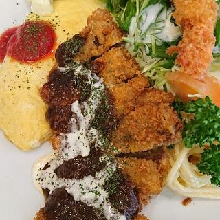 ビフカツセット(洋食あけぼの )