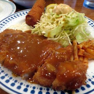 トンカツ+エビフライセット(洋食ゲンジ)