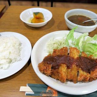 とんかつセット(+スープ)(洋食と珈琲の店 北山 (グリル北山))