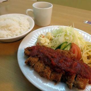 豚ロースカツ定食(ライス大盛)(洋食の店 ジューシィ )