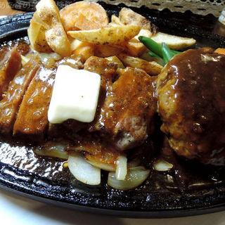 2色ステーキ+Aセット(洋食屋 (ヨウショクヤ))
