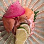 ホタテ・牡蠣、たこの燻製