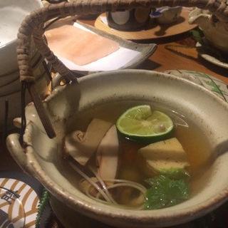 松茸土瓶蒸し(浅草一文 別館 (あさくさいちもん))