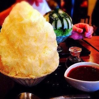 豆乳と自家製ベリーソース(浅草浪花屋)