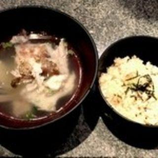 鯛めしと鯛のあらスープ