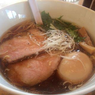 味玉正油ラーメン(湖麺屋 リールカフェ (Reel Cafe))