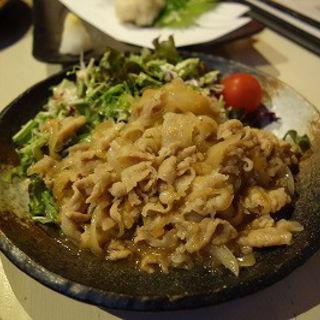 三元豚バラ生姜焼き(炙 (Aburi))