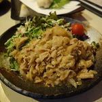 三元豚バラ生姜焼き
