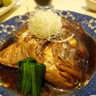 鯛の頭煮付け(炙 (Aburi))