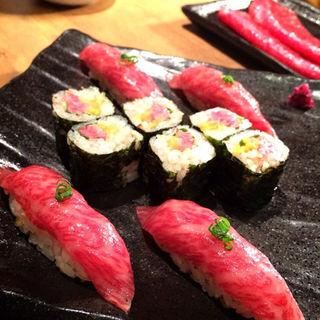 お肉のお寿司(炭火焼肉なかはら )