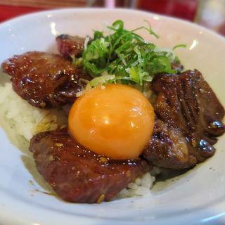 ハラミ丼(スープ付き)(炭焼塩ホルモン『あ』西明石酒場)